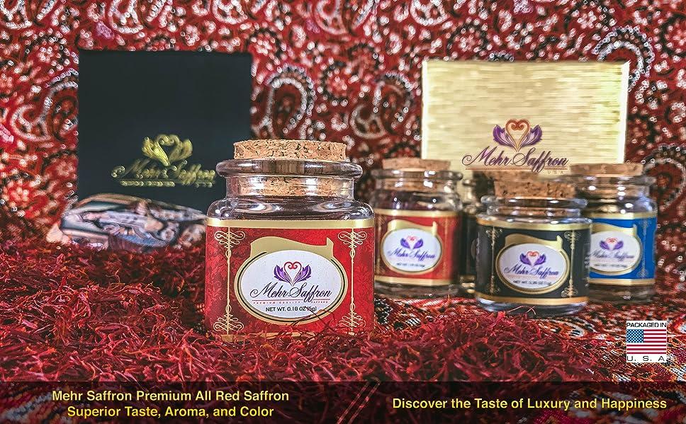 Amazon Com Mehr Saffron Premium All Red Saffron 1 9 Oz 3 Gram