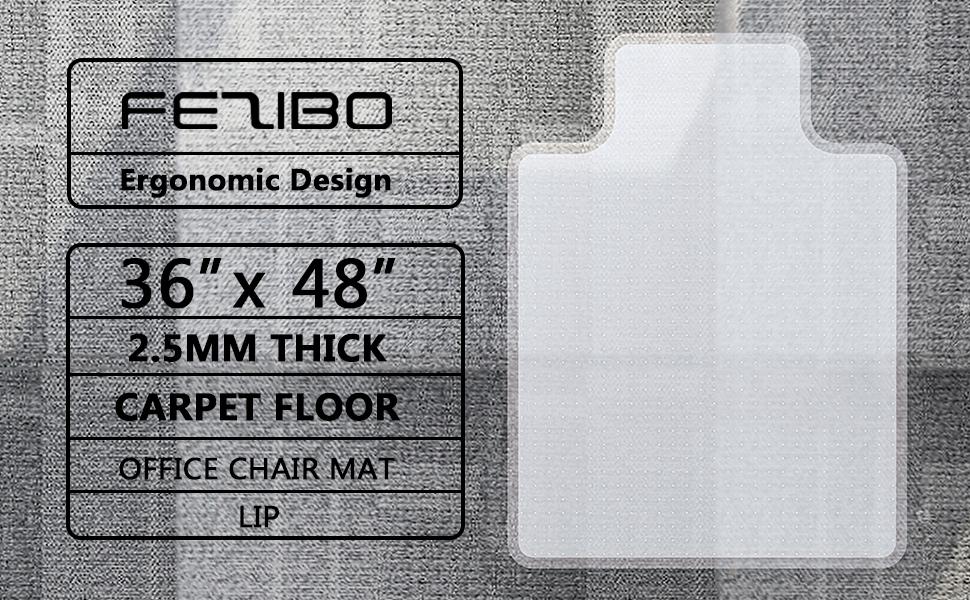 Chair Mat For Carpet Floors With Lip 48 X 36 Fezibo Office Floor