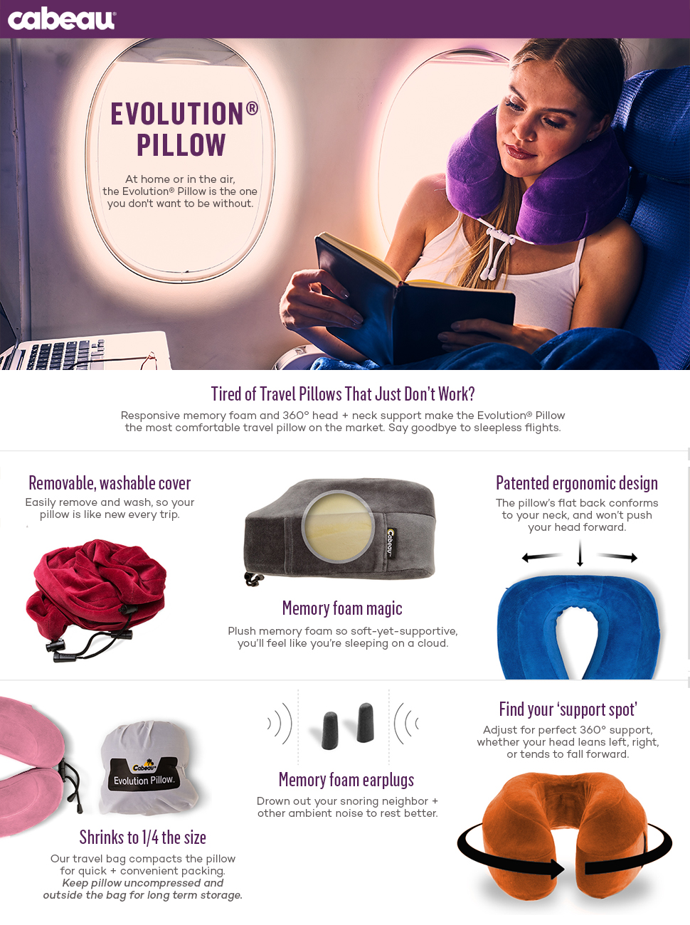 product description - Memory Foam Neck Pillow
