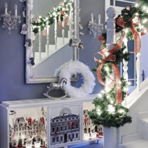 string lights for stair
