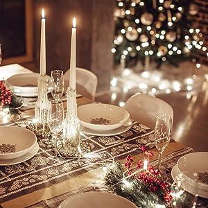 string lights for dinner table