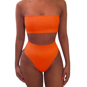 79c2ae59787df Amazon.com  Misassy Womens Sexy High Waisted Bikini 2 Piece Bandeau ...