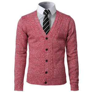 CMOCAL027 - Slim Fit Basic Designed   Heather Colors Knitted Sweaters  Cardigans. 595abb813