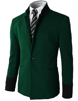 H2H Mens Slim Fit Premium Stylish One Button Suit Coat Jacket ...