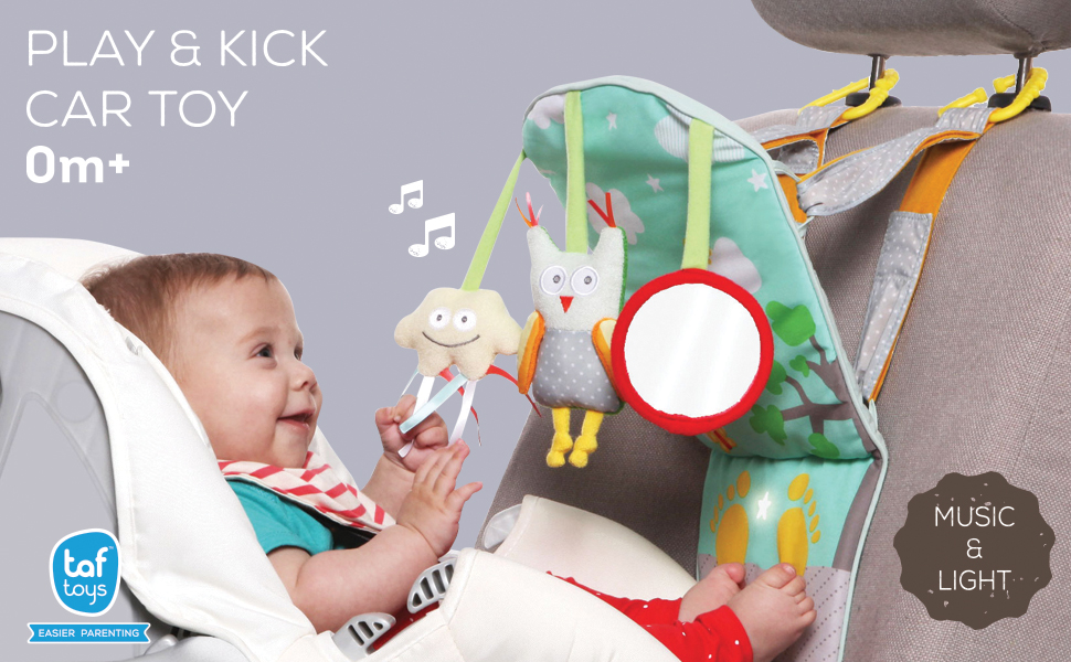 Enjoy An Easier Drive While Your Rear Facing Baby Is Safe Happy With Our Colorful Play Kick Travel Toy That Provides Entertainment For When