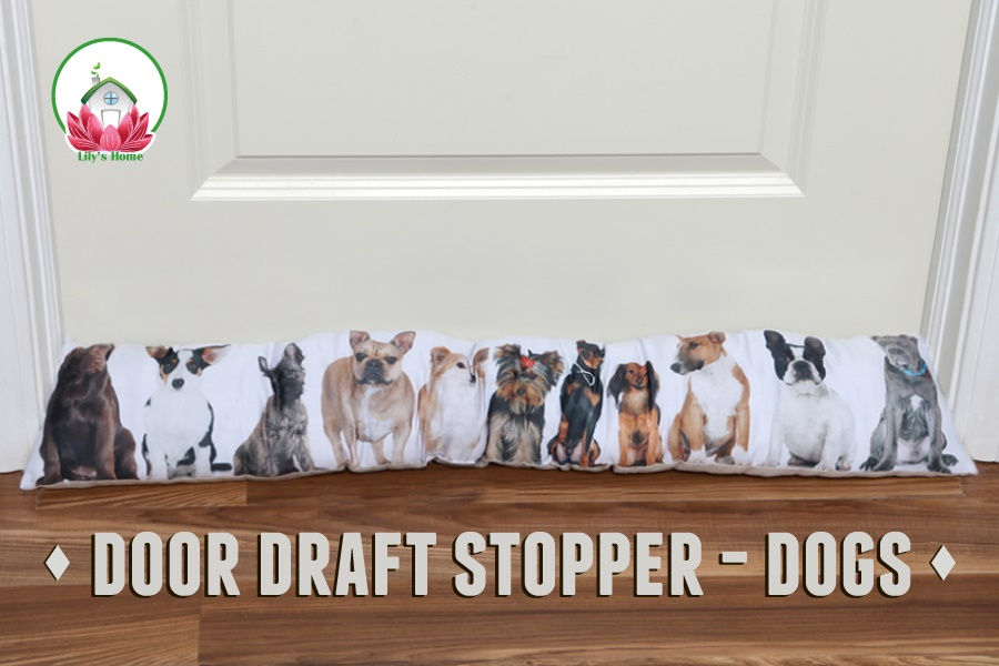Amazon Lilys Home Dog Lovers Door Draft Stopper Perfect For