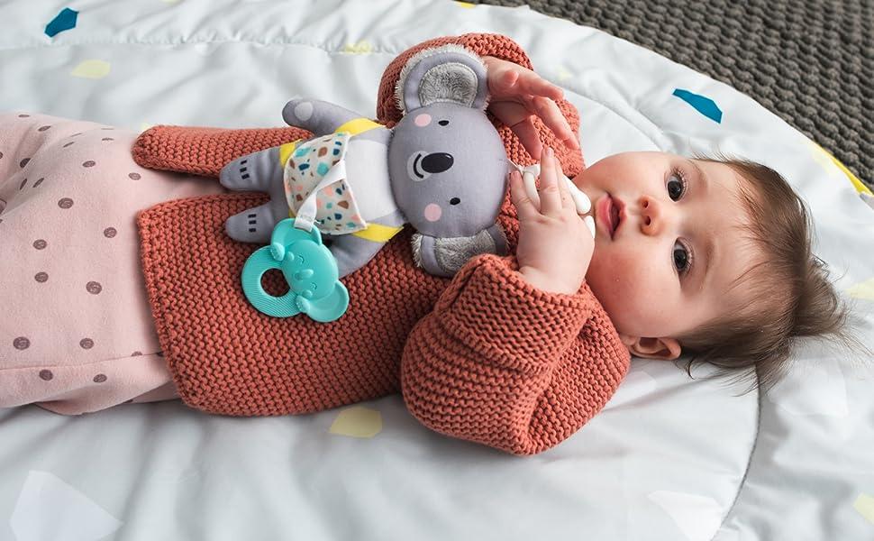 New Baby Gift Set Koala Bear Gifts Wooden Rattle Waldorf Toy Australian Koala Baby Shower Gift Baby Koala Costume Baby Swaddle Blanket