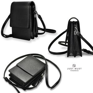 Passport Bag Rust and Tan Paisley Cell Phone Bag Crossbody Bag in Black