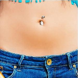 Amazon Com Bodyj4you 4pcs Jeweled Big Crystal Belly Button Ring Set