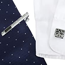 tie clip and cufflink