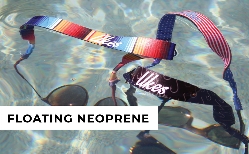 ukes floating neoprene sunglass straps