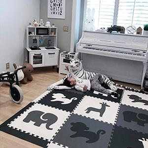 Amazon Com Softtiles Kids Foam Play Mat Safari Animals