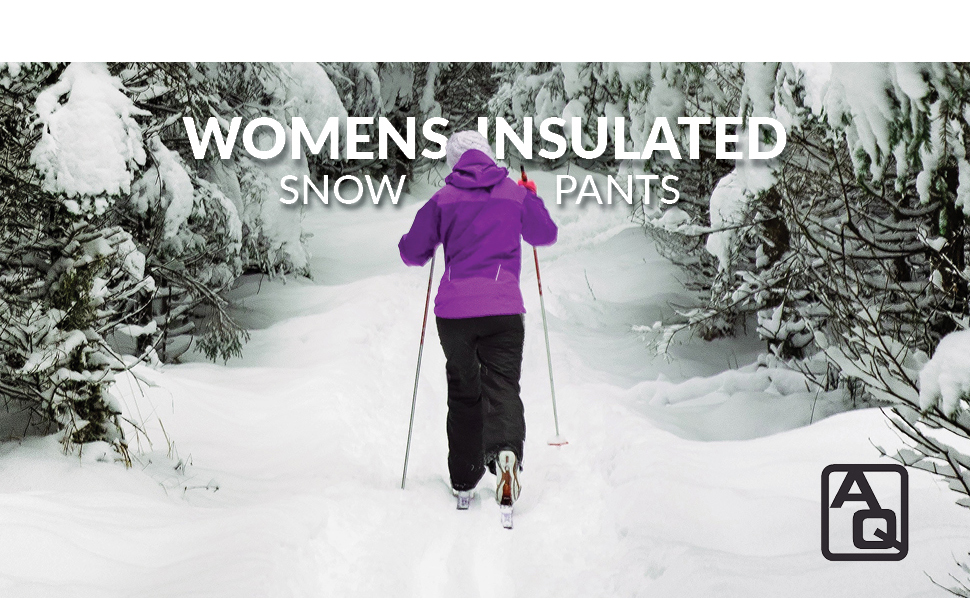 Arctic Quest Womens Insulated Ski amp; Snow Pants