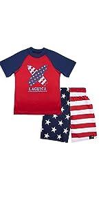 USA swim set boys toddler
