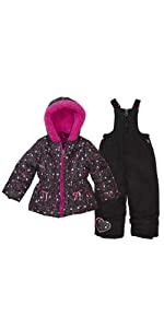Arctic Quest Infant /& Toddler Boys Ski Jacket and Snowbib Snowsuit Set