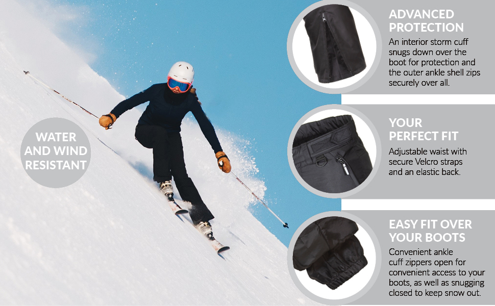 844e0aa67f Amazon.com  Arctic Quest Womens Insulated Ski   Snow Pants  Clothing