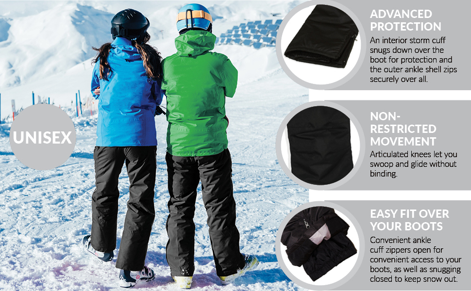 Amazon.com: Arctic Quest - Babero unisex de esquí y nieve ...