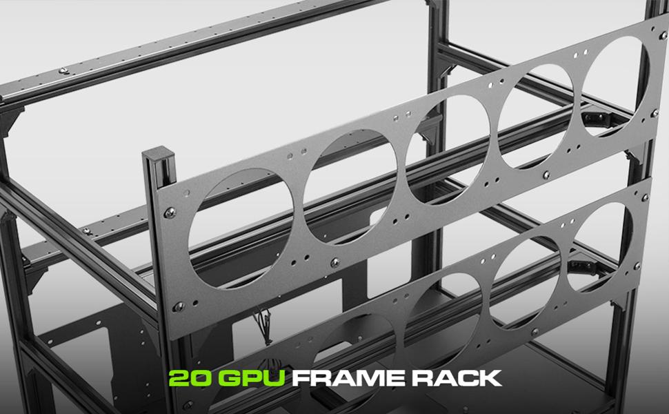 20 GPU Mining Frame Rack