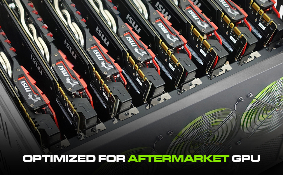 Hydra II Rev  B 8 GPU 6U Case for Learning/Mining/Rendering