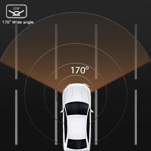 170° Wide angle