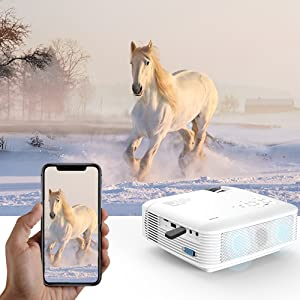 Amazon Com Mini Projector Apeman 3800l Brightness Projector Support 1080p 180 Quot Display Portable Movie Projector 45 000hrs Led Life And