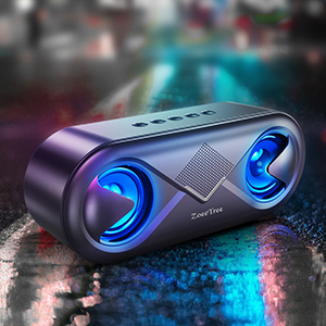 loud speaker with LED flashing light  ZoeeTree S8 Bluetooth Speakers V5.0, Speakers Bluetooth Wireless with 10W HD Sound and Rich Bass, LED Flashing Light, 12H Playtime, Built-in Mic, Portable Speaker Works with Alexa be65ad43 c12c 482d b321 6cfa6c157014