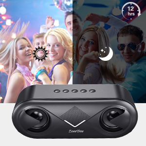 wireless speaker with 12h palytime  ZoeeTree S8 Bluetooth Speakers V5.0, Speakers Bluetooth Wireless with 10W HD Sound and Rich Bass, LED Flashing Light, 12H Playtime, Built-in Mic, Portable Speaker Works with Alexa cf57634a a2dd 4bea 818c 8b5acc19bdf6