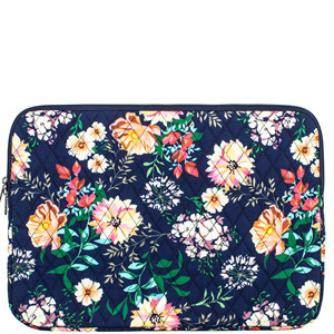 4847a591dcc5 Leaper Fashion Floral Laptop Sleeve 15 Inch 15 Case 15.6 Laptop Bag  Notebook Sleeve Dark Blue