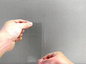 how to clean repair torn in fibreglass mesh screens
