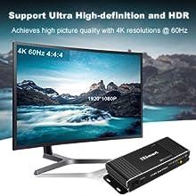 HDMI 2.0, HDCP 2.2, 4K@60Hz 4:4:4