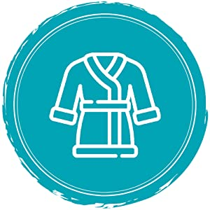 premium fleece fabric was used to make this robe