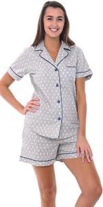 Alexander Del Rossa Womens Dotted Cotton Summer Robe 882c5b049