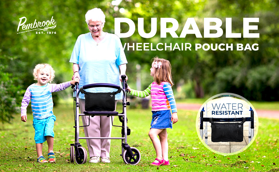 Wheelchair Pouch Bag - Great Accessory Pack for Your Mobility Devices
