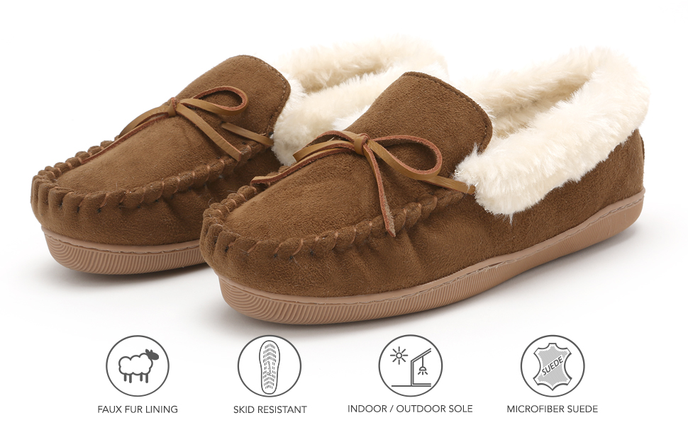 slippers moccasins slip on shoes