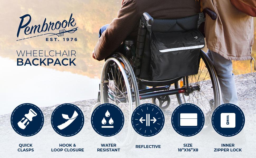 Amazon.com: Pembrook - Mochila para silla de ruedas ...