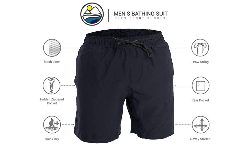 94751fb7ab Amazon.com: Men's Swim Trunks and Workout Shorts – Perfect Swimsuit ...