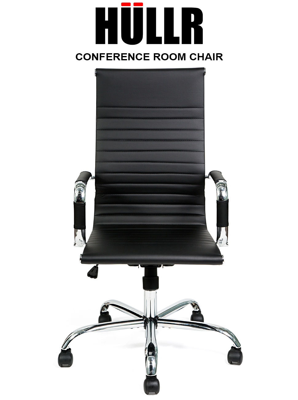 HULLR Executive High Back Modern Office Conference Task Chair Ergonomic  Contemporary Design Eames Style, Chrome Armrest U0026 Base With Swivel  Functionality ...