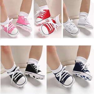 RVROVIC Baby Boys Girls Shoes Canvas Toddler Sneakers Anti-Slip Infant First Walkers 0-18 Months