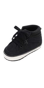 RVROVIC Baby Boys Girls Shoes PU Leather Toddler Sneakers High Top Anti-Slip Infant First Walkers