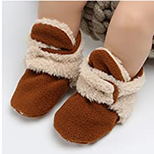 Baby Boys Girls  Booties Non-Slip Soft Sole Infant First Pram Shoes Winter Socks Slippers