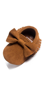 RVROVIC Baby Boys Girls Shoes Suede Toddler Sneakers Anti-Slip Infant First Walkers 0-18 Months