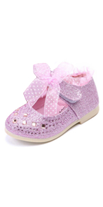 Toddler Girl Glitter Pink Flats