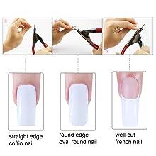 gel artificial nail kit acrylic nail repair kit nail tips cutter