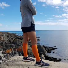 calf compression sleeve shin splint sleeves leg compression footless socks orange women recovery
