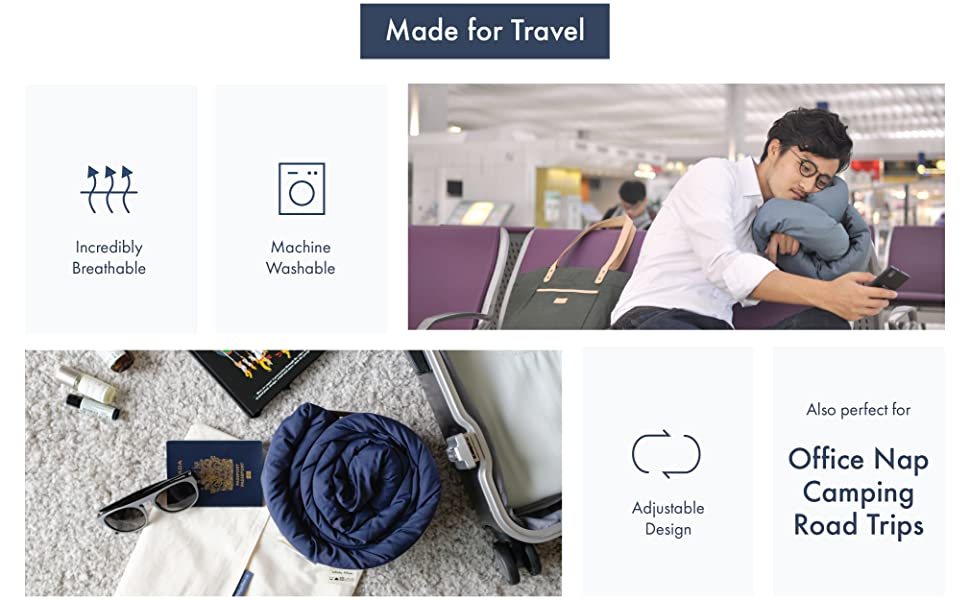 travel pillow neck support airplane office nap flight camping car bus soft bamboo machine washable