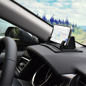 the car phone mount can even be used on uneven dashboard
