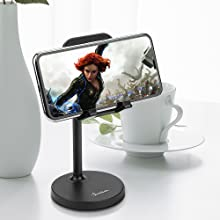 On Table: Watch movies/ YouTube/ Netflix at perfect angle, you can also watch videos when eating