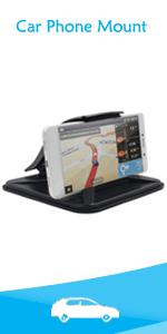 Dashboard car phone mount