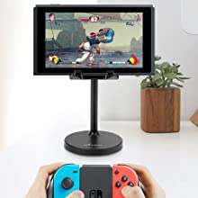 In Playroom: Games yourself or with friends, put game device on the holder and enjoy game anytime.
