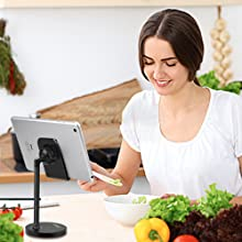 In Kitchen: Check recipe or learn cooking on video by phone or tablet easily, without worrying